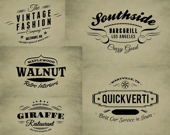 web design co 30 free vintage logo templates
